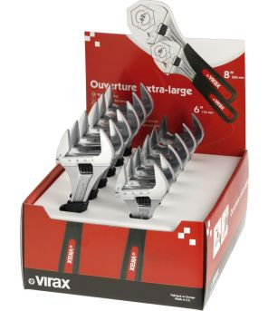0170 : Display Box of Extra-Wide Opening Adjustable Wrenches