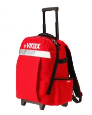 3826 : Textile backpack with rollers